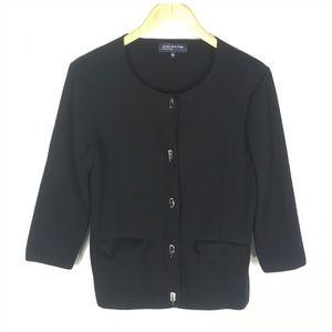 Jones New York Signature Black Thick Sweater Large